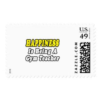 Profesor de gimnasio de Happines… Timbre Postal