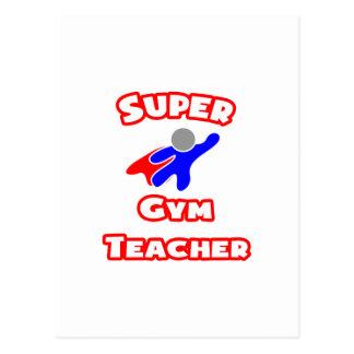 Profesor de gimnasio estupendo tarjeta postal