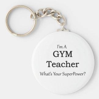 Profesor de gimnasio llavero redondo tipo pin