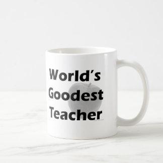 Profesor de Goodest del mundo Tazas