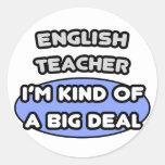 Profesor de inglés. Clase de una gran cosa Pegatina Redonda