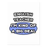 Profesor de inglés. Clase de una gran cosa Tarjetas Postales