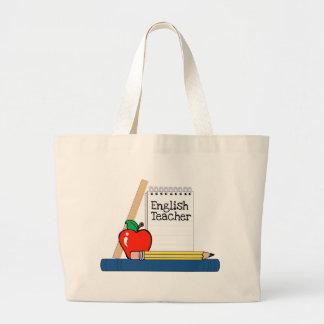 Profesor de inglés (cuaderno) bolsa tela grande