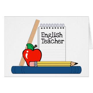 Profesor de inglés (cuaderno) tarjeta de felicitación