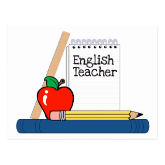 Profesor de inglés (cuaderno) postal
