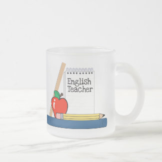 Profesor de inglés (cuaderno) taza cristal mate