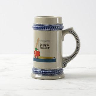 Profesor de inglés (cuaderno) jarra de cerveza
