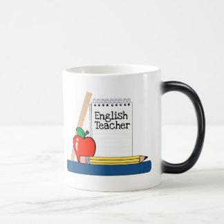 Profesor de inglés (cuaderno) taza mágica