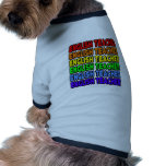 Profesor de inglés del arco iris camisa de perrito