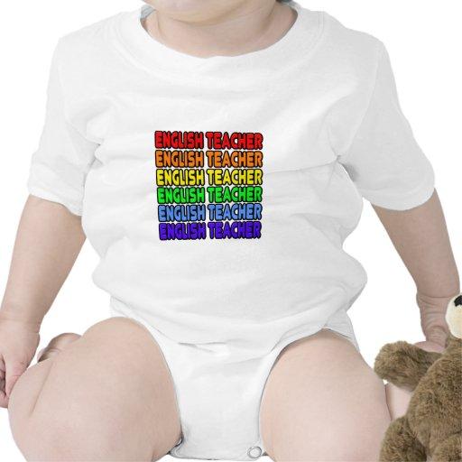 Profesor de inglés del arco iris camisetas