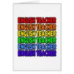 Profesor de inglés del arco iris felicitaciones