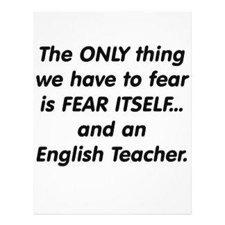 Profesor de inglés del miedo flyer a todo color