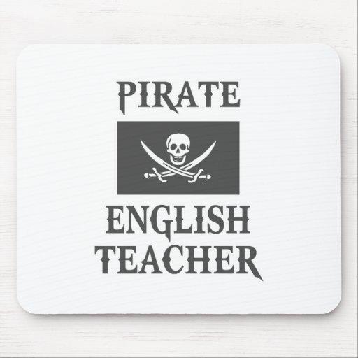 Profesor de inglés del pirata tapetes de ratón