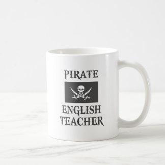 Profesor de inglés del pirata taza de café