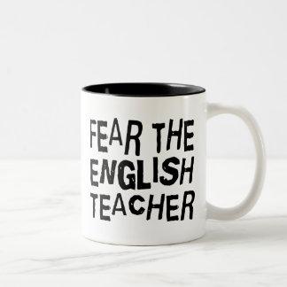 Profesor de inglés divertido taza