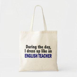 Profesor de inglés durante el día bolsa tela barata