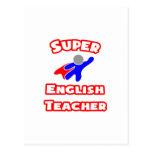 Profesor de inglés estupendo postal