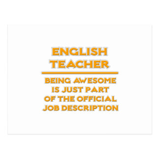 Profesor de inglés impresionante. Descripción de Tarjeta Postal