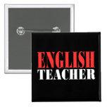 Profesor de inglés, nuevo negro shirts2 pins