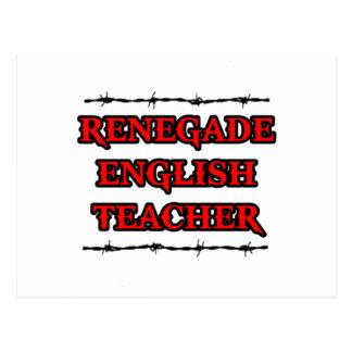 Profesor de inglés renegado tarjeta postal