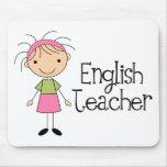 Profesor de inglés tapetes de ratón