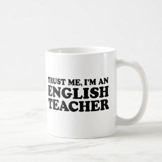 Profesor de inglés taza de café