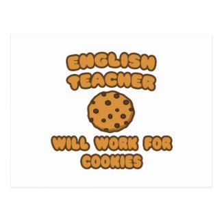 Profesor de inglés. Trabajará para las galletas Tarjeta Postal