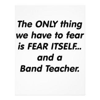 Profesor de la banda del miedo flyer a todo color