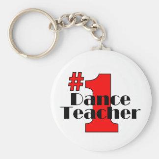 Profesor de la danza #1 llavero redondo tipo pin