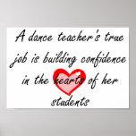 Profesor de la danza - confianza del edificio poster
