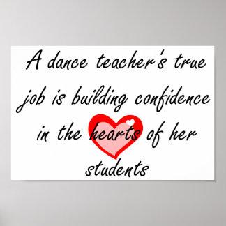 Profesor de la danza - confianza del edificio póster