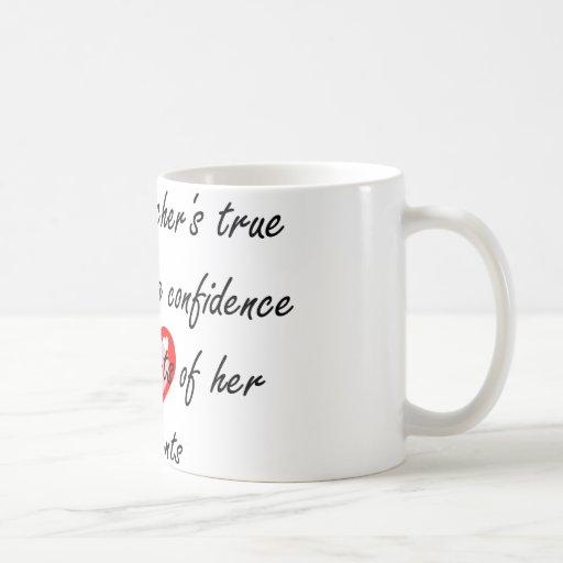 Profesor de la danza - confianza del edificio taza básica blanca