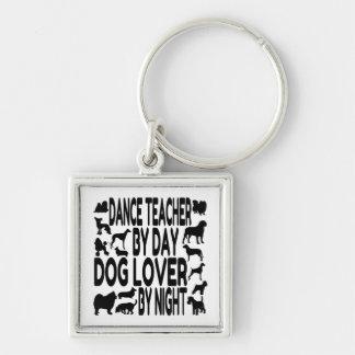 Profesor de la danza del amante del perro llaveros personalizados