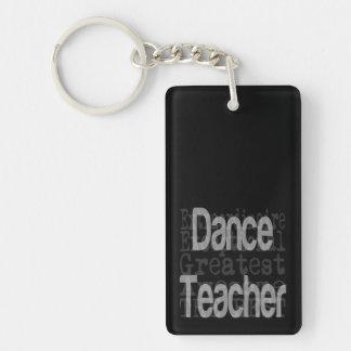 Profesor de la danza Extraordinaire Llavero Rectangular Acrílico A Doble Cara