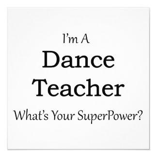 """Profesor de la danza invitación 5.25"""" x 5.25"""""""