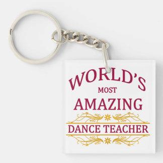 Profesor de la danza llavero cuadrado acrílico a una cara