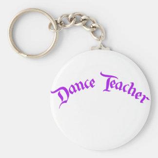 Profesor de la danza (personalizar) llavero redondo tipo pin
