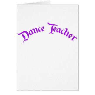 Profesor de la danza (personalizar) tarjeta de felicitación