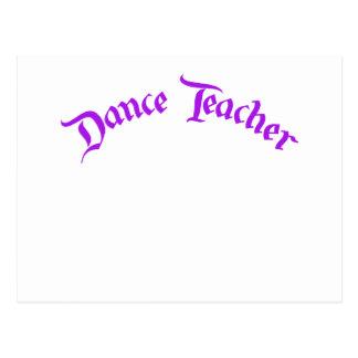 Profesor de la danza (personalizar) tarjetas postales
