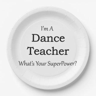 Profesor de la danza plato de papel de 9 pulgadas