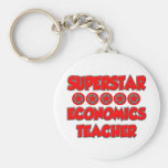 Profesor de la economía de la superestrella llavero personalizado