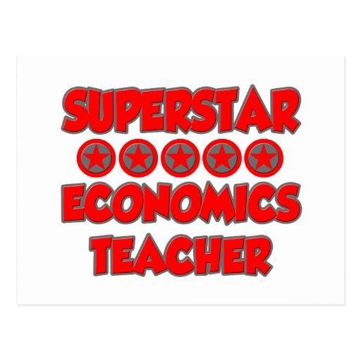 Profesor de la economía de la superestrella postales