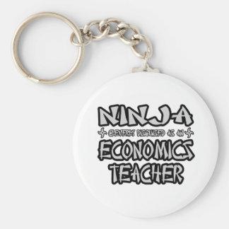 Profesor de la economía de Ninja… Llavero Personalizado