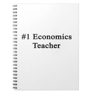 Profesor de la economía del número 1 spiral notebooks