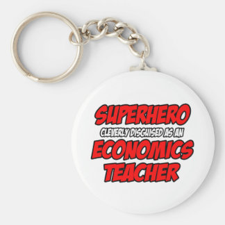 Profesor de la economía del super héroe… llavero personalizado