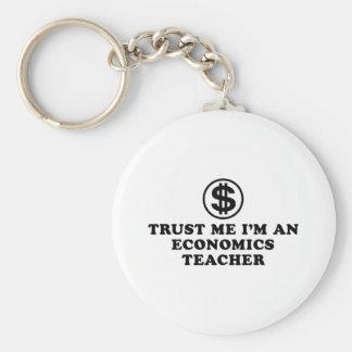 Profesor de la economía llavero personalizado