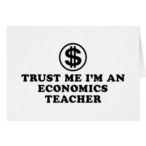 Profesor de la economía tarjeta de felicitación