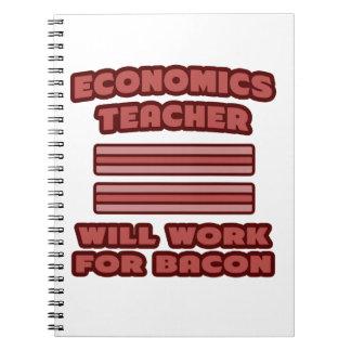 Profesor de la economía. Trabajará para el tocino Libretas