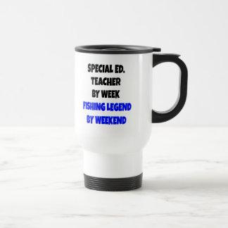 Profesor de la educación especial de la leyenda de taza de viaje