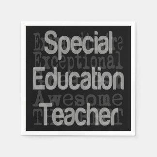 Profesor de la educación especial Extraordinaire Servilletas Desechables
